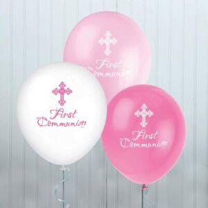 "18/"" Pink Communion Foil Helium Balloon Girls Religious Party Decoration Goblet"