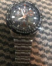 Men's Citizen U600-S041341 HST Eco-Drive Skyhawk  Stainless Steel Watch