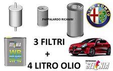 KIT TAGLIANDO 3 FILTRI + 4 LITRI OLIO ALFA ROMEO GIULIETTA 1.6 Multijet Diesel