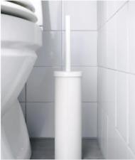 ENUDDEN Toilet Brush & Holder Free Standing Steel & Plastic IKEA White