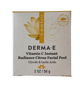 DERMA E Vitamin C Instant Radiance Citrus Facial Peel 2oz EXP 06/23 Eco Ethical