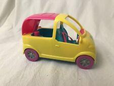 Polly Pocket Car Pool Cruiser Van Yellow Makes Bubbles Carpool