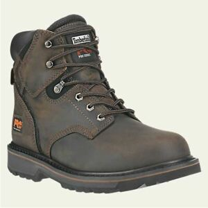 """Timberland PRO Boots Mens Pit Boss 6"""" Soft Toe Brown Work Boot 33046"""