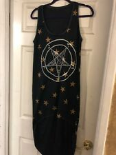 Toxic Vision Pentagram Star High Low Dress