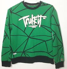 Men's Trukfit Green Embroidered Logo Crew Neck Pullover Sweatshirt Size Large