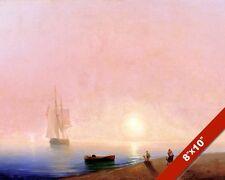 BIDDING FAREWELL GODSPEED SHIPS SAILBOAT SEASCAPE PAINTING ART REAL CANVAS PRINT