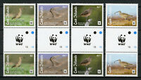 Cook Isl 2017 MNH Bristle-thighed Curlew WWF 4v Set Gutter Pairs Birds Stamps