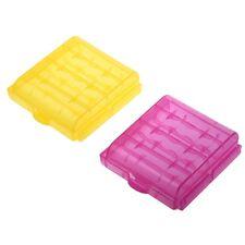 5/10 X Plastique Etui Botiers boite De Rangement Accus 4 AA/AAA Pile batter B1J1