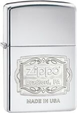 Zippo Choice Bradford PA Engrave WindProof Lighter High Polish Chrome 29521 New
