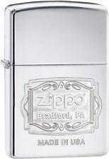 Zippo Choice Bradford PA Engrave WindProof Lighter High Polish Chrome 29521 New