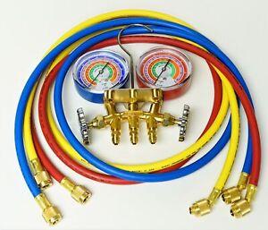 """59161 Mastercool A/C HVAC  Refrigeration Manifold w 60"""" Charging Hoses R410A"""