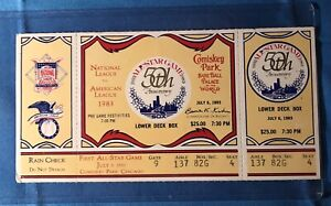 1983 MLB All-Star Game Full Ticket Comiskey Park ASG 50th Anniversary VG+