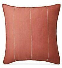 Ralph Lauren Cayden Rustic Coral Euro Sham 26 x 26 New in Package retail $135
