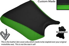 GREEN & BLACK CUSTOM FITS KAWASAKI ZXR 250 88-91 FRONT RIDER LEATHER SEAT COVER