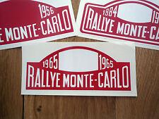 "RALLYE monte-carlo rallye autocollants style plaque de 16 ""ALPINE A110 mini voiture classique"