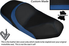 BLACK & ROYAL BLUE CUSTOM FITS SYM JOYRIDE 125 200 EVO DUAL LEATHER SEAT COVER