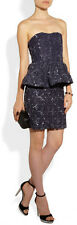 "ALICE + OLIVIA ""ELISE"" SEQUIN LACE PEPLUM COCKTAIL  DRESS ABOVE KNEE  NWT 6 $550"
