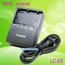 Genuine Original LC-E6E Charger for Canon EOS 5D Mark II III 60D LP-E6 LP-E6N