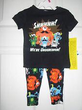 BNWTS BOY'S JOE BOXER 2 PIECE Pajamas  TOP AND Pants 12 MONTHS  PJ'S