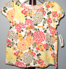 New OLD NAVY Size 3T Multi-Color Floral Short  Sleeves Tops ~ Shirt