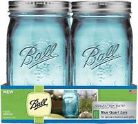 Ball TV205951 Collection (4 Pack), Blue (R) Wide Mouth Canning Jars 4/pkg-Quart-