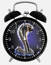 """Mustang Cobra GT Alarm Desk Clock 3.75"""" Home or Office Decor Y54 Nice For Gift"""