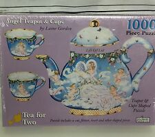 Tea For Two Shaped Puzzle 1000 Piece 1998 Teapot & Cups Laine Gordon Sealed