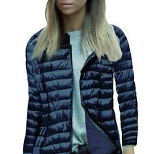 UK Womens Slim Winter Warm Coat Zip UP Jacket Ladies Padded Hooded Collar Coats