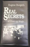 Eugene Berger Real Secrets of Close Up Magic VHS magician 1991
