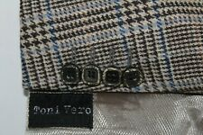 Toni Vero Made in Italy 58 / 46R Wool & Cashmere Flannel Elbow Pads Sport Coat