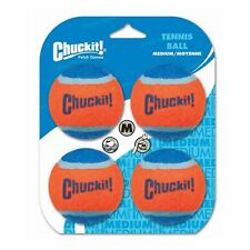 4 Chuckit! Dog Tennis Ball Bouncing Durable Rubber Floating Fetch Toy Medium