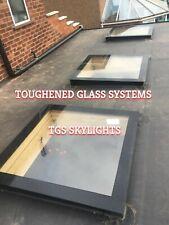 Skylight Flat Roof Rooflight D/B Glazed Glass 1000mm by 3000mm
