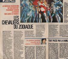 Coupure de presse Clipping 1989 Les Chevaliers du Zodiaque  (1 page 1/2)