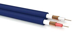 OEHLBACH NF-Stereo Audiokabel Meterware zum Selberlöten halogenfrei blau 8040 1