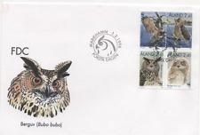"Åland 1996 Mi.Nr. 109-112 Ersttagsbrief ""Uhu"" ; FDC ""Eurasian Eagle-Owl"""