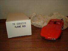 1975 Chevy Corvette 2 Door 1/25 Promo In Flame Red Excellent Mib No Reserve!