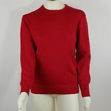 Ugly Christmas Sweater Size Large Sweater Solid Red Long Sleeve Party Decorate
