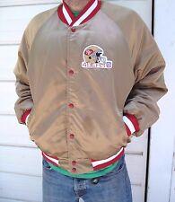 Vintage San Francisco 49ers satin gold mens Chalkline jacket coat sz XL NFL