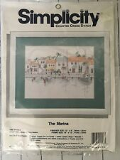JCA Simplicity Counted Cross Stitch THE MARINA Boat Dock #05557 NEW/SEALED