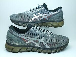 ASICS Mens 10 GEL-Quantum 360 Gray Black Silver Athletic Running Shoes T5J1Q