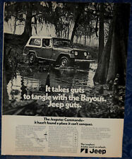 ORIGINAL Advertising JEEP Jeepster Commando 2-Door 4-Wheel 1-p Magazine Ad 1971