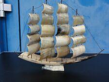 Altes Perlmutschiff Horn um 1930    46 x 34,5 cm