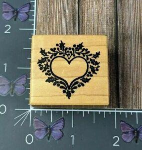 PSX Designs Heart Flourish Border Rubber Stamp C367 Wood #AK96