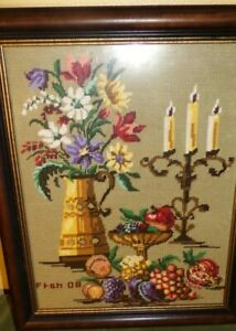 Embroidered Original Art 23 x 19 Artist Singed