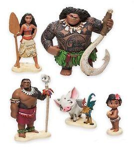 5pc Moana Maui Hei Hei Pua Playset 5 Figure Cake Topper Toy Doll Set Birthday
