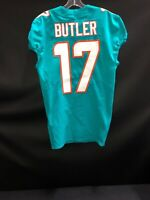 #17 BRICE BUTLER MIAMI DOLPHINS NIKE GAME USED AQUA JERSEY SZ-40 YR-2018
