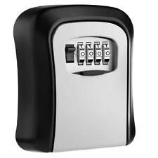 Key Lock Box Wall Mounted Aluminum alloy Key Safe Box Weatherproof 4 Digit N2G2