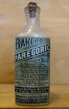 Vintage Medicine Hand Crafted Bottle, Baker's Paregoric w/Opium, (Copy)