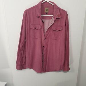 Insight Pink Long Sleeve Denim Shirt Sz M