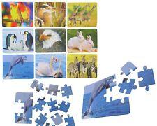 72x Puzzle Tiere Mix Geduldspiel Mitgebsel Wurfmaterial Giveaway Tombola Neu